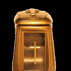 Ceramika krzyż złoty