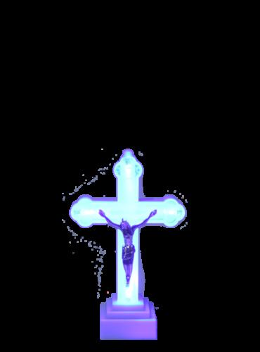 krzyż led mały
