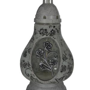 Karafa biało-czarny elegancki lampion z różą