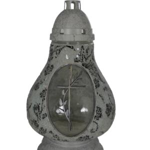 Karafa biało-czarna elegancki lampion z krzyżem