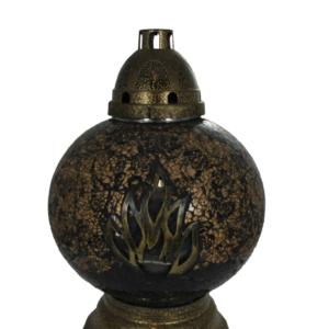 Lampion witraż kula fire złota