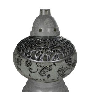 Mini waza lampion czarno-biały elegancki lampion nagrobny