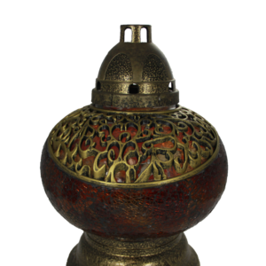 Mini waza lampion złoto-czarny elegancki lampion nagrobny