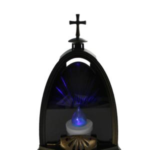 Kopuła lampion elektryczny w kolorze miedzianym