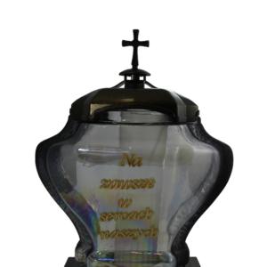 Urna lampion z napisem w kolorze złoty
