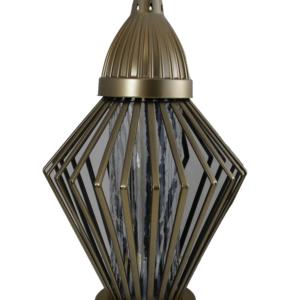 Koszyk diament złoty atrakcyjny lampion efekt wikliny