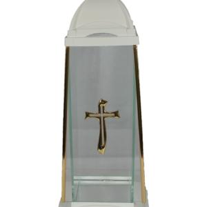 Lampion art 2 wysoka kapliczka biała z krzyżem